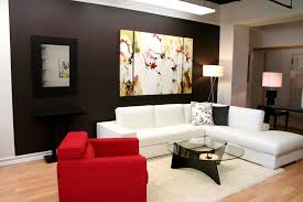 modern masculine living room decor with appealing wall decoration