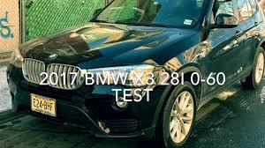 bmw x3 0 60 2017 bmw x3 28i 0 60 test