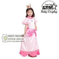 Baby Mario Halloween Costume Cheap Princess Peach Costume Child Aliexpress
