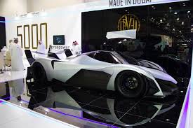 nissan leaf top speed dubai motor show devel sixteen claims 5000 hp and 348 mph top