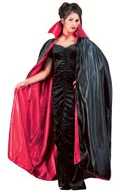 Vampire Cape Reversible Long Lined Vampire Cape Red Black Dracula Cape