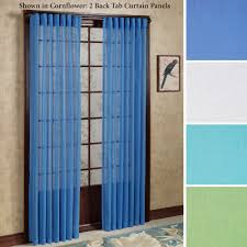 tropical breeze back tab semi sheer curtain panels curtains