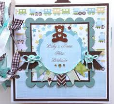 personalized scrapbook albums scrapbook mini album baby boy premade personalized scrapbook