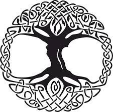 celtic tree of vinyl window sticker vector coreldraw vector