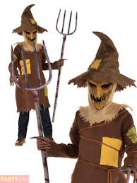 Scarecrow Costume Boys Scary Scarecrow Costume Child Teen Horror Halloween Fancy