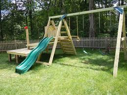 Diy Backyard Swing Set Dollops Of Diane Building Your Own Swing Set