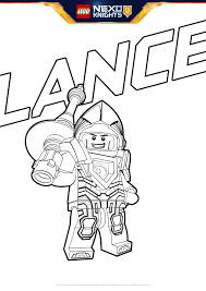 lance coloring page colouring page activities nexo knights