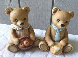 homco home interior homco home interior bears porcelain figurines boy apples