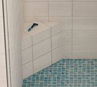 Tile Ready Shower Bench Glass Shower Wall No Door Bathrooms Pinterest Doors Walls