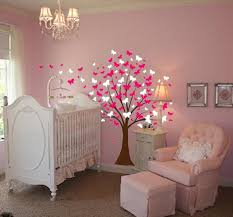 Cherry Blossom Tree Wall Decal For Nursery Large Wall Tree Baby Nursery Decal Butterfly Cherry Blossom 1139
