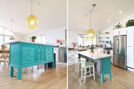 turquoise kitchen island transformed vintage dresser to kitchen island nesting