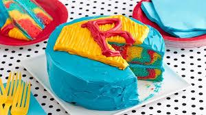 easy superhero layer cake recipe bettycrocker com