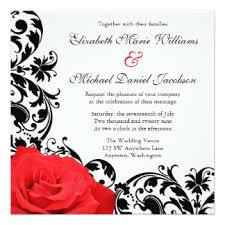 Black Wedding Invitations Red Black Wedding Invitations U0026 Announcements Zazzle