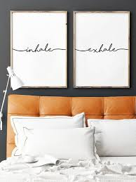 Home Interiors And Gifts Framed Art Inhale Exhale Print Yoga Wall Art Wall Prints Inhale Exhale