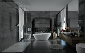 Dark Bathroom Ideas Applying A Trendy Bathroom Designs Which Arranged With A Luxury