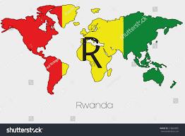Mali World Map by Flag Illustration Inside Shape World Map Stock Illustration