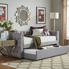 Queen Bed With Twin Trundle Queen Size Daybed Wayfair