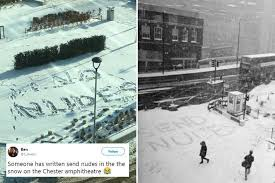 Winter Storm Meme - internet meme send nudes crosses over into reality in bizarre