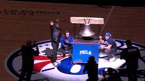 rings bell images Kevin hart rings the bell ahead of sixers warriors nbc sports jpg