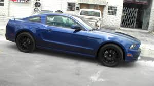 Silver Mustang Black Wheels Dubsandtires Com 18