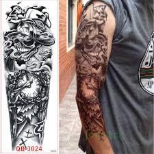 online buy wholesale skull tattoos arm from china skull tattoos