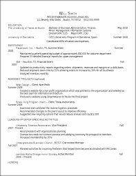 Sample Resume Format For 12th Pass Student by Resume For Freshman In College