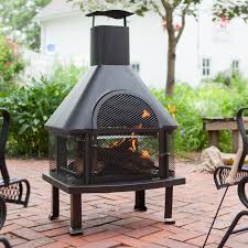 Garden Chiminea Sale Red Ember Alto Steel Chiminea Hayneedle