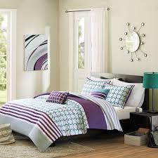 Twin White Comforter Twin Twin Xl 4 Piece Comforter Set Purple White Teal Circles