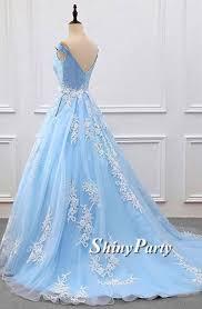 light blue formal dresses custom made off shoulder light blue prom dress with lace applique