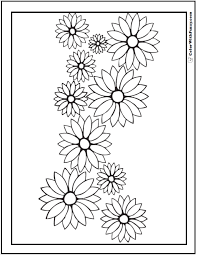printable coloring pages for adults flowers 102 flower coloring pages customize and print pdf