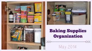 organizing baking supplies youtube