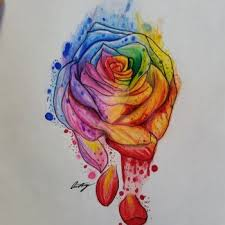 100 rainbow rose tattoo rainbow rose artwork personally