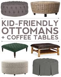 Kid Friendly Coffee Table 10 Kid Friendly Ottoman Coffee Table Options For Your Living