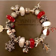 pandora christmas themed bracelet pinteres