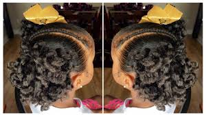Little Girls Ponytail Hairstyles by Curly Ponytails Tutorial Kids Natural Hairstyle Iamawog Youtube