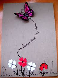 farewell card template word handmade birthday greetings for love goodbye and good luck wishes