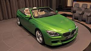 java green bmw bmw abu dhabi showcases java green 650i convertible motor1 com