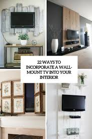Best Way To Hide Wires From Wall Mounted Tv 22 Ways To Incorporate A Wall Mount Tv Into Interior Shelterness