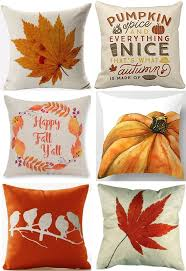 Outdoor Pillow Slipcovers 30 Fall Pillow Covers Frugal Autumn Decor The Frugal Girls