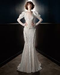 wedding gowns with sleeves sleeve wedding dresses we martha stewart weddings