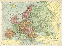 Printable Maps Of Europe by Vintage 1901 Map Of Europe Instant Download Digital Printable