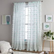 Bed Bath Beyond Sheer Curtains Buy Aqua Sheer Curtains From Bed Bath U0026 Beyond