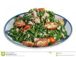 vegetable fern salad low fat diet food stock photo image