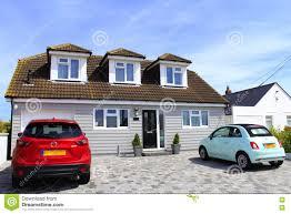 english seaside bungalows kent stock photo image 81841505