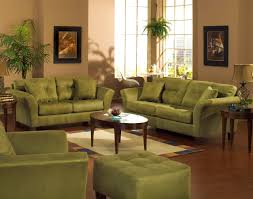 living classy living room idea with green sofa and floral