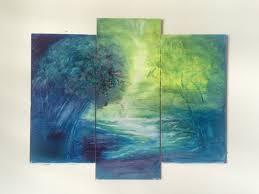 painting artwork on wood multi panel painting painting on wood panel framed