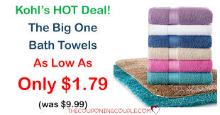 best deals on bath towels during black friday 2016 kohl u0027s the big one towels as low as 1 79 each