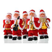 santa claus toys stepping singing santa decorations