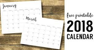 printable calendars free 2018 calendar printable free template paper trail design