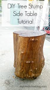 Tree Stump Side Table Tree Stump Side Table My Own Home